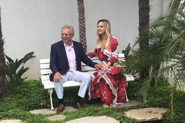 Carlos Alberto e Eliana (Gabriel Cardoso/SBT)