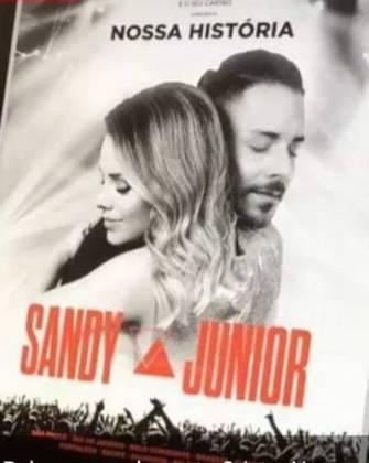 Cartaz da turnê de Sandy e Junior/Instagram