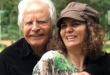 Cid Moreira com a mulher/Instagram