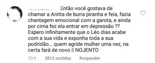 Comentario de internauta/Instagram