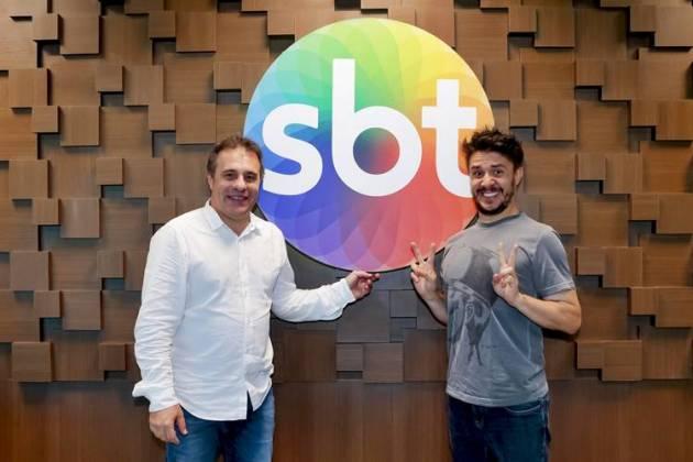 Fernando Pelégio e Oscar Filho (Lourival Ribeiro/SBT)