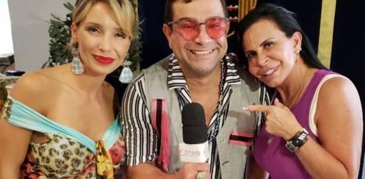 Luciana Abreu - Evandro Santo - Gretchen/Foto: Área VIP