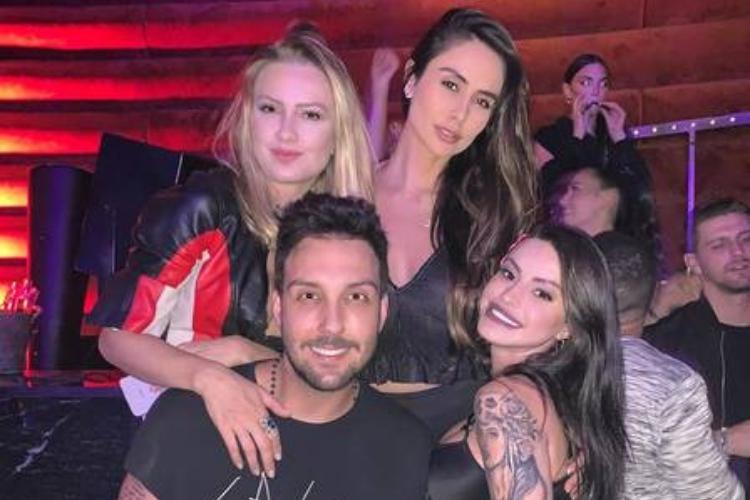 Mikelly, Rafael, Duda e uma amiga em Las Vegas/Reprodução Instagram