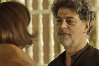 O Sétimo Guardião - Murilo fica surpreso (Reprodução/TV Globo)