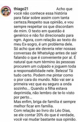 Post - Thiago Magalhães/Instagram