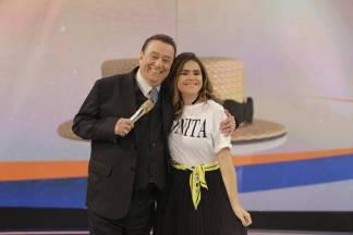 Raul Gil e Maisa  (Rodrigo Belentani /SBT)