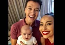Rodrigo Faro com Zoe e Sabrina Sato/Instagram