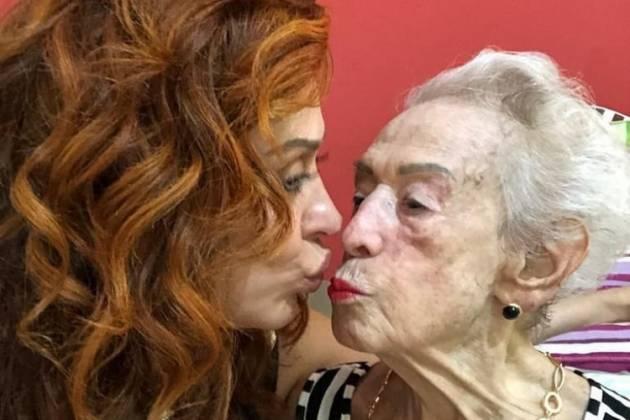 Claudia Raia e a mãe/Reprodução Instagram