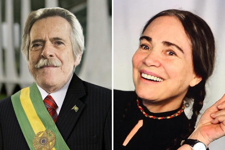 Zé de Abreu e Regina Duarte/Reprodução Instagram