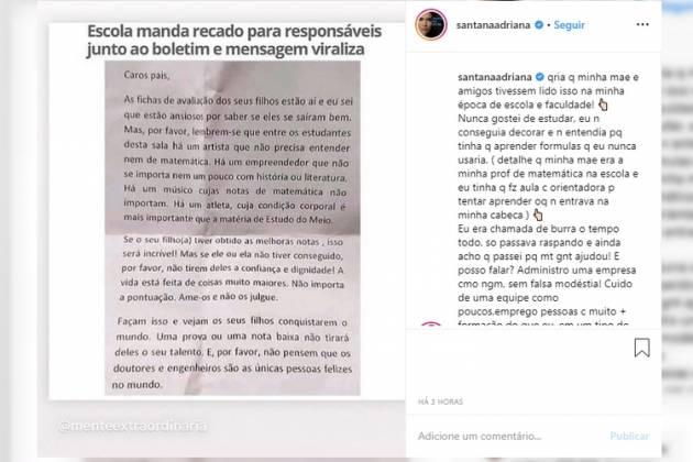 Adriana Sant'anna - Reprodução/Instagram