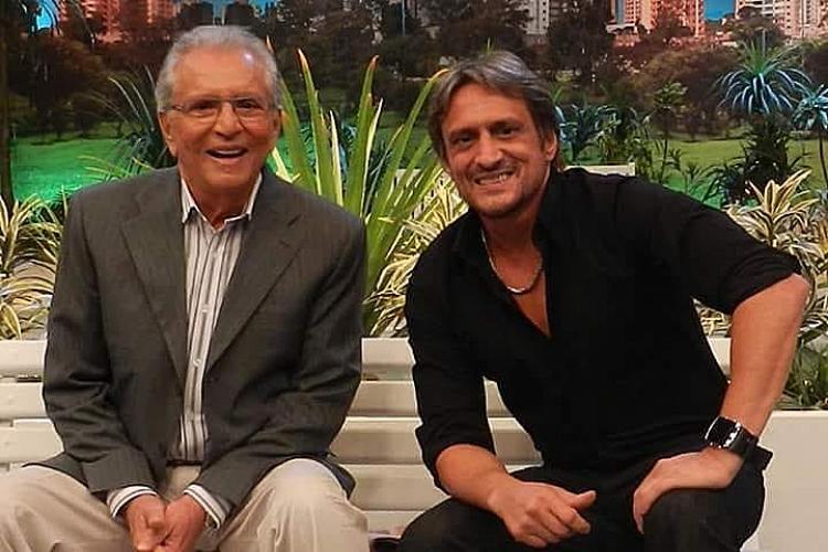 Carlos Alberto de Nóbrega e o filho/Reprodução Instagram