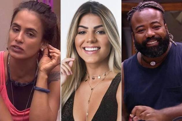 BBB19 - Carolina - Hariany - Rodrigo (Reprodução/TV Globo)