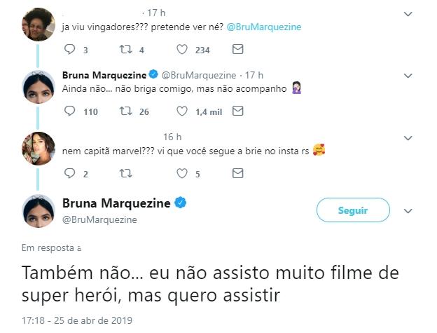 Bruna Marquezine falou sobre filme - Reprodução/Twitter