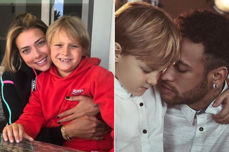 Carol, Neymar e Davi Lucca/Reprodução Instagram