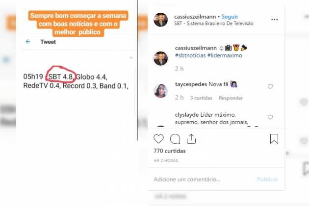 Cassius comemorou resultado - Reprodução/Instagram