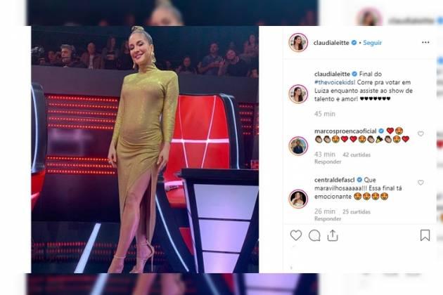 Claudia no 'The Voice' - Reprodução/Instagram