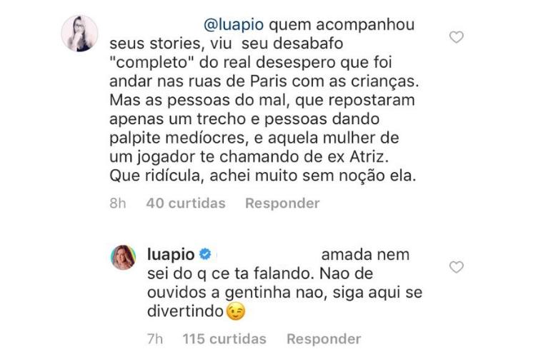 Comentário/Reprodução Instagram