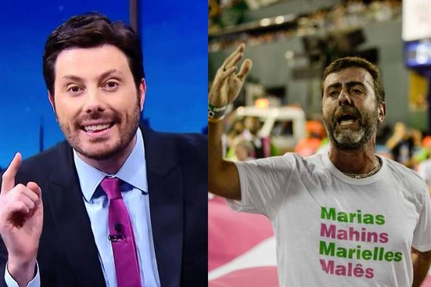 Danilo Gentili e Marcelo Freixo (Foto: Montagem)