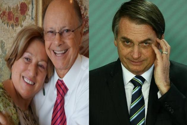Ester, Edir Macedo e Jair Bolsonaro - Montagem/Área Vip