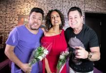Faa Morena com Bruno e Marrone (Foto:Andrea Dallevo)