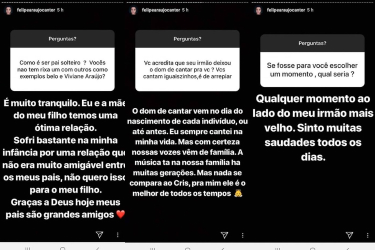 Felipe Araújo e Cristiano Araújo/Reprodução Instagram