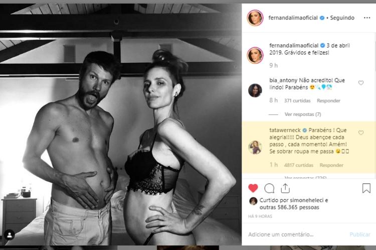 Fernanda Lima e Tatá Werneck/Reprodução Instagram