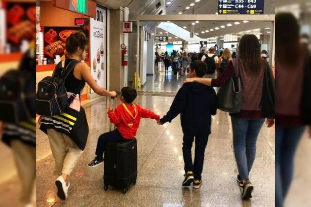 Fernanda Gentil, esposa e filhos - Reprodução/Instagram