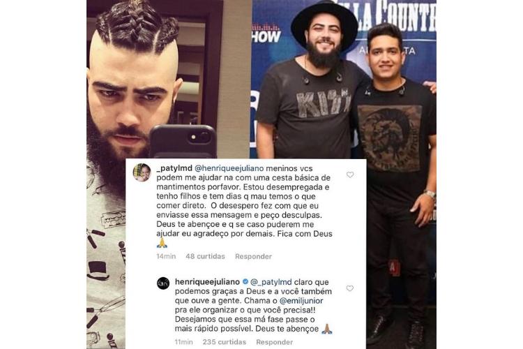 Henrique e Juliano/Reprodução Instagram Garotxdoblog