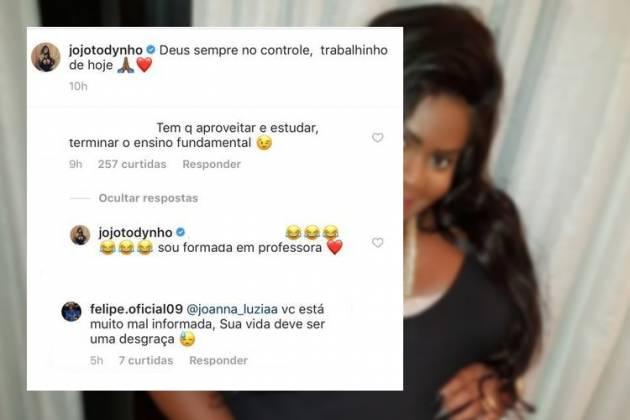 Namorado de Jojo a defendeu de crítica - Reprodução/Instagram