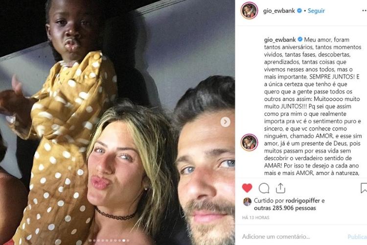 Publicação de Giovanna/Reprodução Instagram