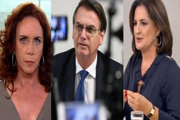 Jornalistas foram afastadas após discussão com Bolsonaro (Foto: Reprodução)