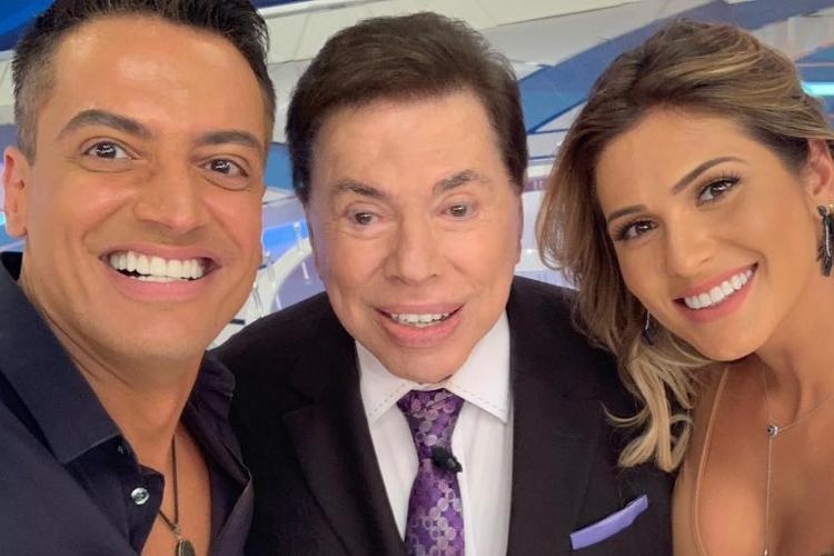 Leo Dias SIlvio Santos e Lívia Andrade/Reprodução Instagram