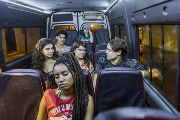 Malhação - Jovens na van (Globo/Paulo Belote)