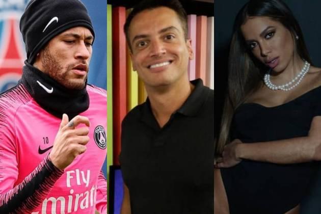 Neymar, Leo Dias e Anitta/Reprodução Instagram
