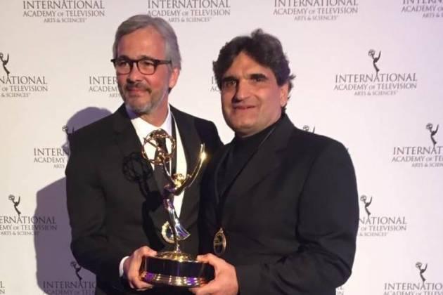 O autor Cao Hamburger e o diretor artístico Paulo Silvestrini (Globo/Divulgação)