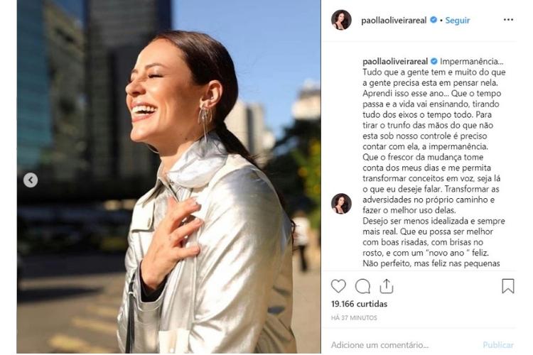 Paolla Oliveira/Reprodução Instagram