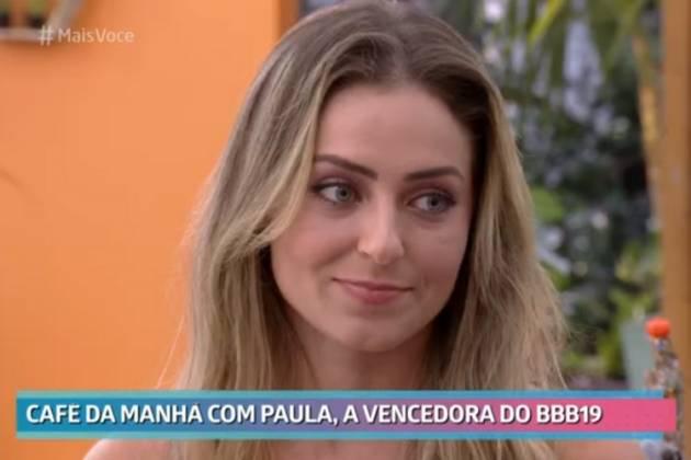 Paula no 'Mais Você' - Reprodução/Globo