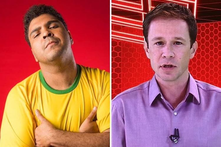 Paulo Vieira e Tiago Leifert/Reprodução Instagram-Globoplay