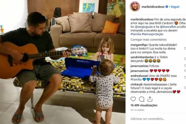 Post - Rafael tocando com os filhos/Instagram