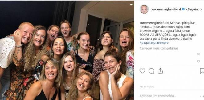 Post - Xuxa com paquitas/Instagram