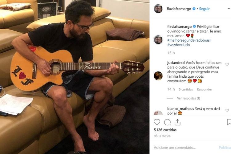 Publicação de Flávia/Reprodução Instagram