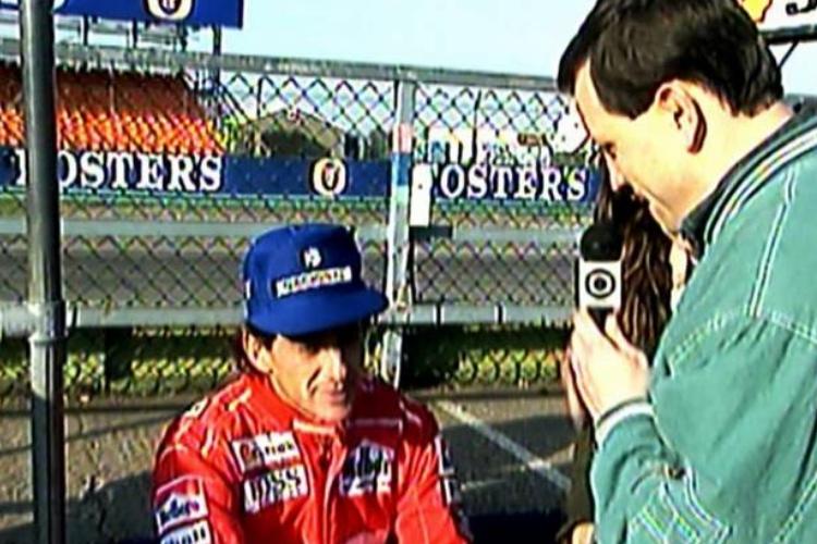 Roberto Cabrini e Ayrton Senna/Divulgação SBT