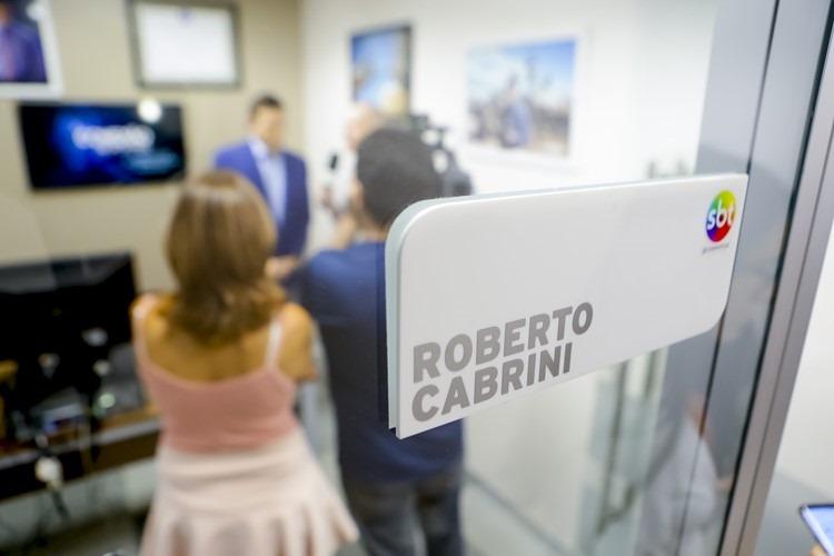 Roberto Cabrini recebe Prêmio Área VIP - Foto: Gabriel Cardoso/SBT