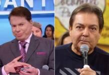 Silvio Santo e Faustão/Reproduçao Globoplay-Twitter