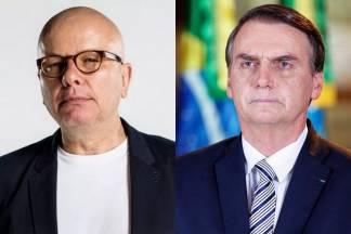 Marcelo Tas e Bolsonaro - Montagem/Área Vip