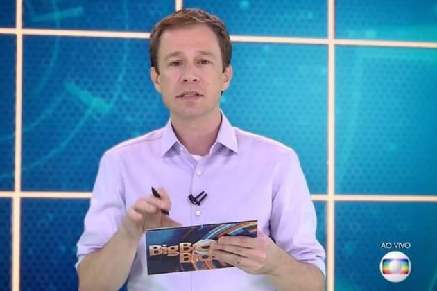Tiago Leifert  no 'BBB19' (Reprodução/TV Globo)