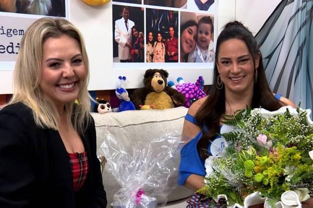 Abiane Souza e Silvia Abravanel (Reprodução/TV Aparecida)