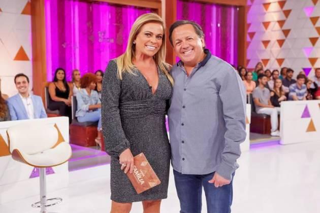 Christina Rocha com o diretor Rafael ( Gabriel Cardoso/SBT)