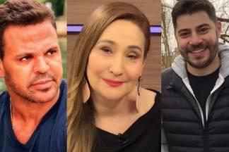 Eduardo Costa, Sônia Abrão e Evaristo Costa - Montagem/Área Vip