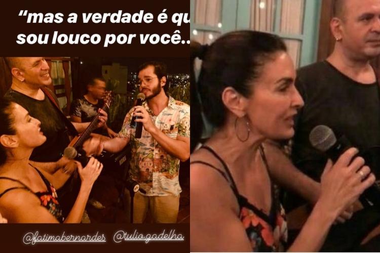 Fátima Bernardes em festa/Reprodução Instagram